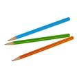 Three pencil vector image