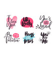 valentines day love text quote message collection vector image vector image