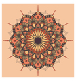Vintage colorful Mandala with floral ornament vector image vector image