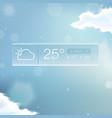 weather widget notification vector image