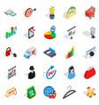 website development icons set isometric style vector image vector image