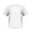 white round neck t-shirts male isolated vector image