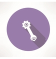 wrench and nut icon vector image