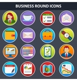 Flat icons for Web and Mobile App vector image