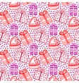 gift seamless pattern seamless happy birthday new vector image