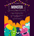 halloween party invitation poster with vector image