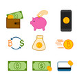 simple bitcoin investment symbol graphic set vector image