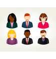 Social media people user icons set vector image