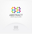 abstract and colorful pixel logo design vector image vector image