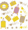 abstract cute travel seamless pattern it is vector image