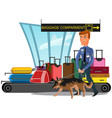 airport security service checks arrived baggage vector image