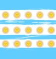 argentina independence day seamless pattern vector image