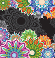 Background with round patterns vector image vector image