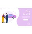 banner car rental service concept vector image vector image