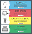 beer web banner templates set vector image