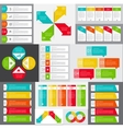 big set infographic banner templates for your vector image vector image