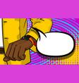 black businessman looking at watch pop art vector image