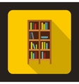 Bookcase icon in flat style vector image vector image