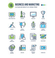 business and marketing monitoring accounting vector image vector image