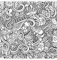 Cartoon doodle children seamless pattern vector image