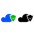 cloud security icon vector image