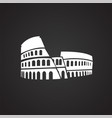 colloseum on black background vector image