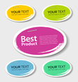 Colorful label paper best product circle vector image