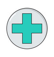 cross simple medical icon in trendy line style vector image