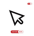 cursor icon mouse pointer click symbol vector image vector image