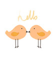 cute bird with say hello vector image
