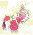 Decorative stylish perfume bottles vector image