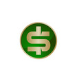 dollar icon logo design template vector image