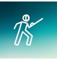 Fencing sport thin line icon vector image