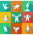 flat fitness icons vector image vector image