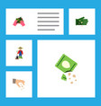 flat icon seed set of man sow glove and other vector image vector image