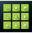 flat web icon set vector image