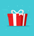 gift box isolated in flat vector image vector image