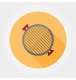 Grill grate icon vector image
