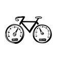 hand drawn concept icon with bicycle doodle vector image