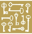 Hand drawn vintage keys collection