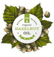 Hazelnut oil label