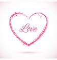 heart-pink-frame vector image