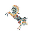 horse with ornaments and flower vector image
