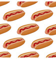 hot dog colored doodle seamless pattern vector image vector image