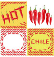 hot red chilli pepper vector image