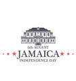 Independence Day Jamaica vector image vector image