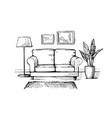 interior design doodle vector image vector image