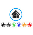 jail rounded icon vector image
