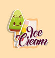 kawaii ice creams design vector image vector image