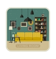 Living room grunge interior vector image